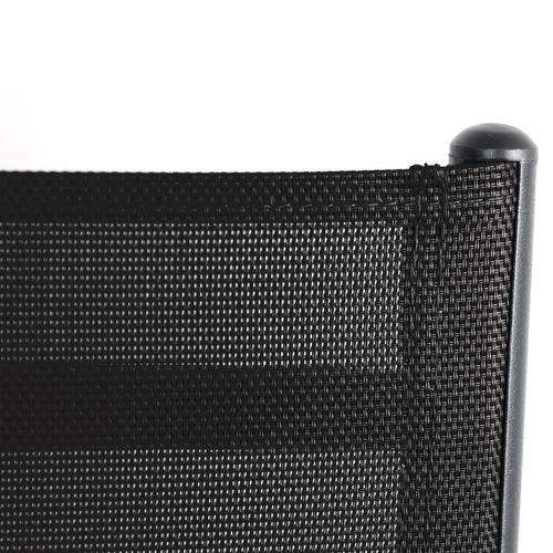 Gartengarnitur Aluminium Polywood 150x90cm + 6x Aluminium Hochlehner Schwarz – Bild 5