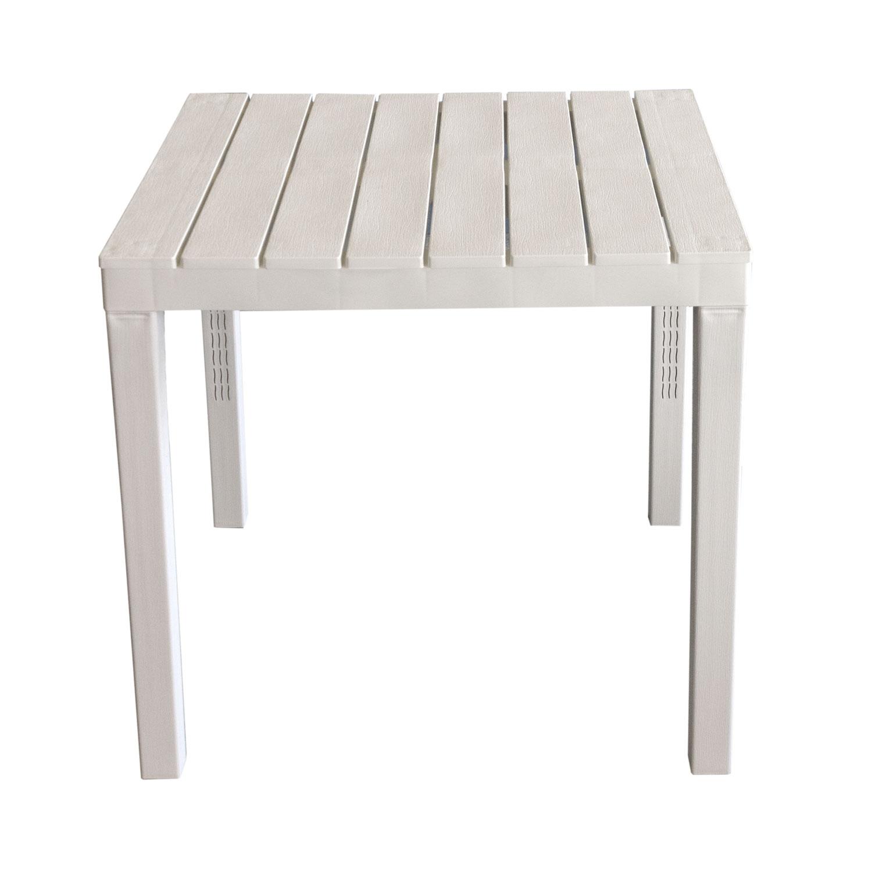 Gartenmöbel Set Kunststoff Gartentisch 78x78cm 4x Stapelstuhl