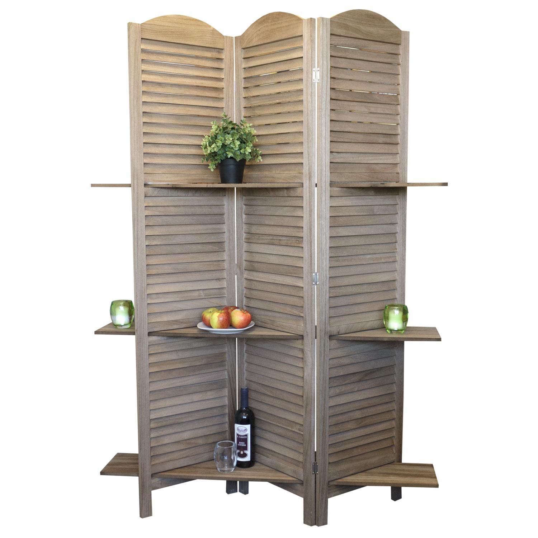 raumteiler paravent spanische wand regal 174x120cm mit. Black Bedroom Furniture Sets. Home Design Ideas