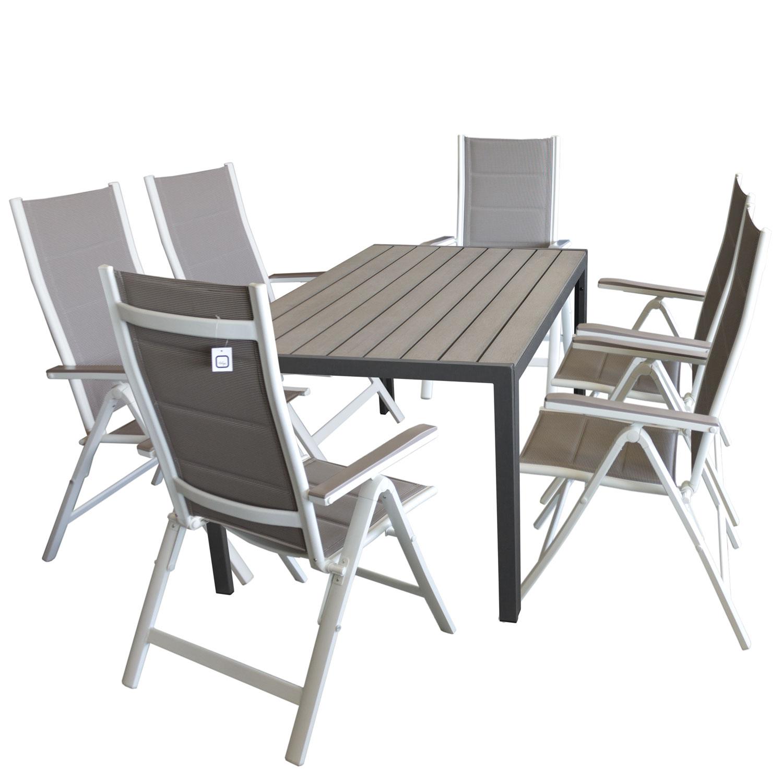 gartenm bel terrassenm bel set garnitur 150x90cm 6x. Black Bedroom Furniture Sets. Home Design Ideas