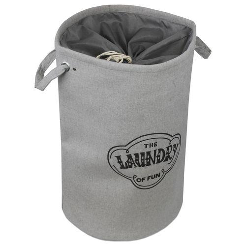 Wäschesack The Laundry Of Fun Ø40x60cm - Dunkelgrau – Bild 1