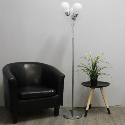 Grundig Stehleuchte H148cm 3x E14 - Silber/Weiß – Bild 2