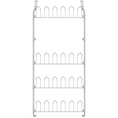 Türregal 17x60x145cm für max. 12 Paar Schuhe - Weiß – Bild 2