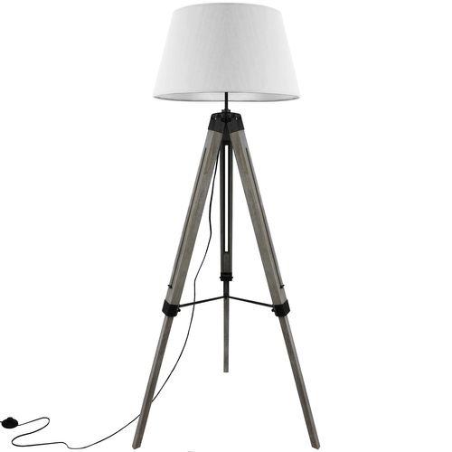 Grundig Tripod Stehlampe E27 40W H100-150cm - Weiß/Grau – Bild 2