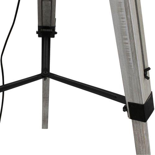 Grundig Tripod Stehlampe E27 40W H100-150cm - Weiß/Grau – Bild 5