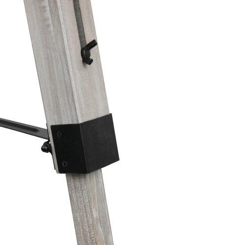 Grundig Tripod Stehlampe E27 40W H100-150cm - Weiß/Grau – Bild 6