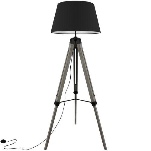 Grundig Tripod Stehlampe E27 40W H100-150cm - Schwarz/Grau – Bild 2