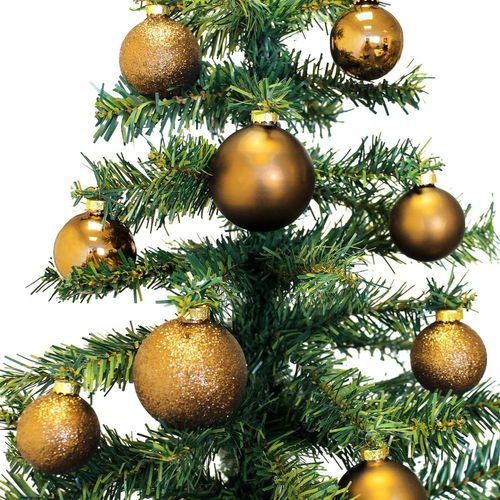 26 Stück Weihnachtskugeln Ø5/5,5/6,5cm - Gold – Bild 3
