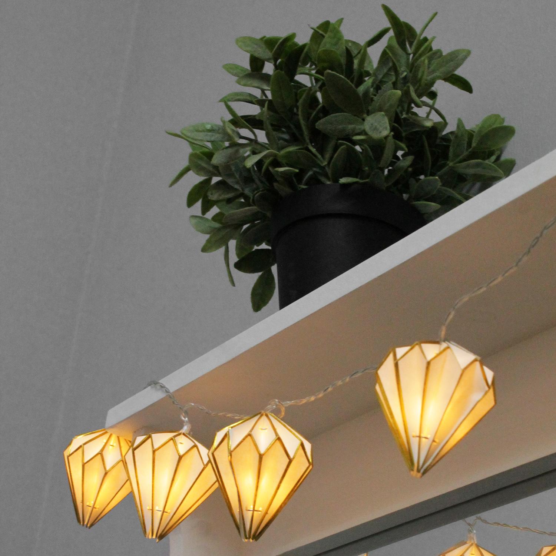 10er led lichterkette mit papierlampions l nglich weihnachten weihnachts beleuchtung. Black Bedroom Furniture Sets. Home Design Ideas