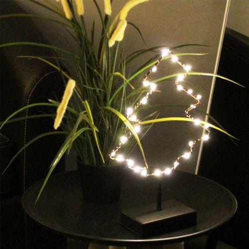 Beleuchteter Tannenbaum mit 30er LED-Lichterkette H32cm - Schwarz – Bild 4