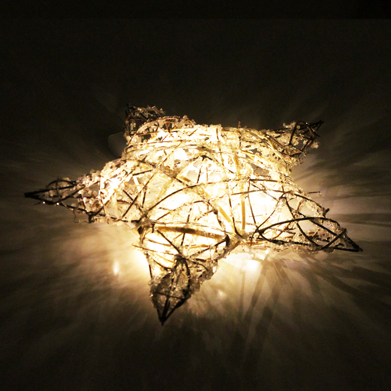 beleuchteter weihnachtsstern mit 10er lichterkette 31cm. Black Bedroom Furniture Sets. Home Design Ideas