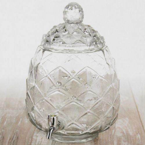 Getränkespender Ø23xH35cm 6 Liter inkl. Zapfhahn im Ananas Design