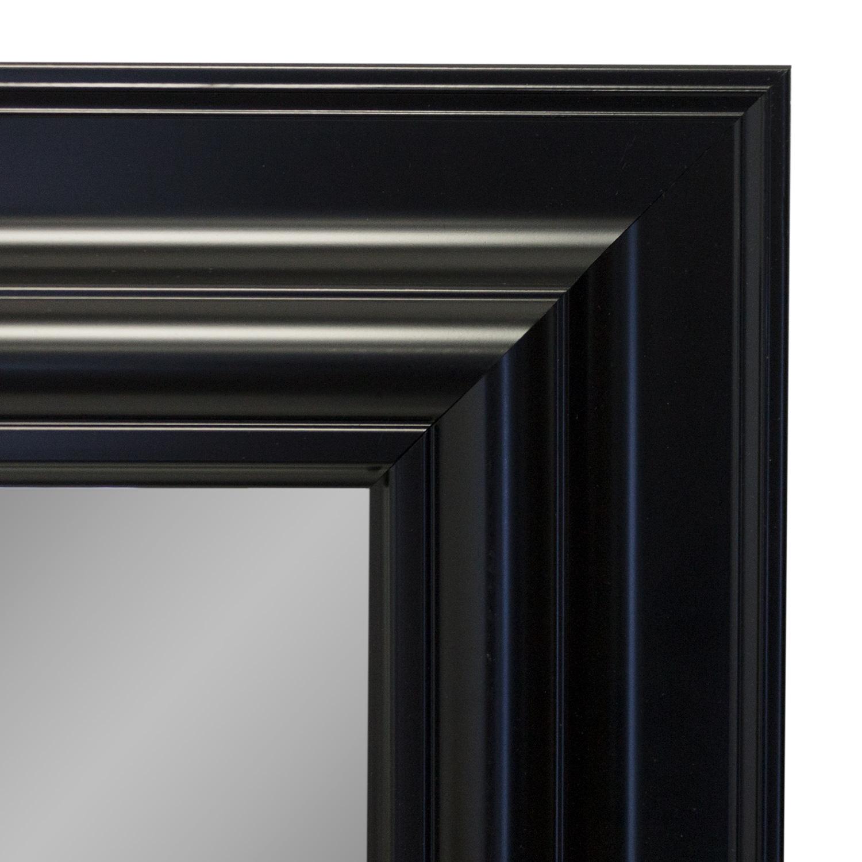 wandspiegel 105x75cm schwarz wohnen spiegel. Black Bedroom Furniture Sets. Home Design Ideas