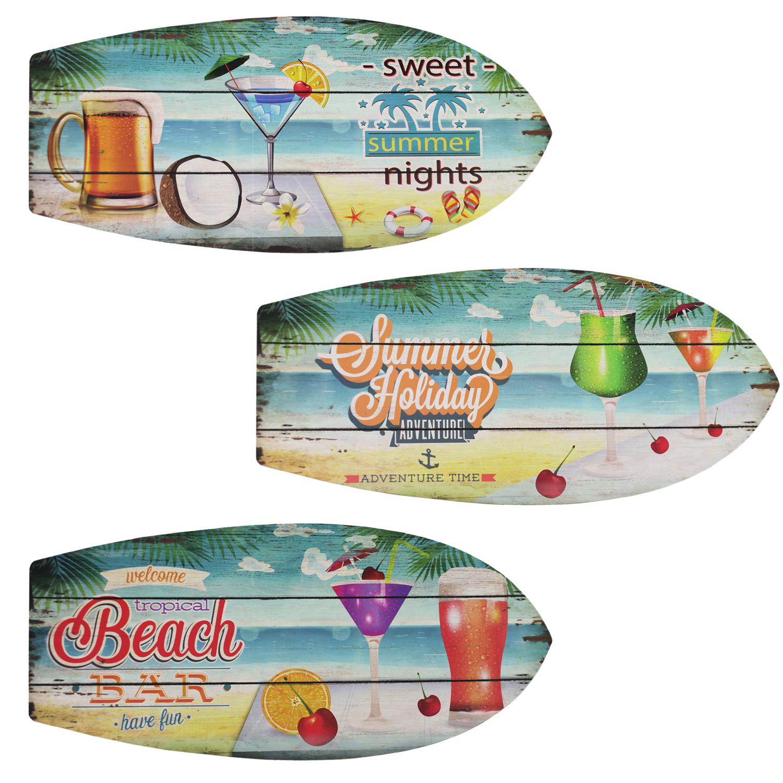 Wanddeko surfboard 78x30x2cm motivauswahl verk ufer for Wohnen dekoration