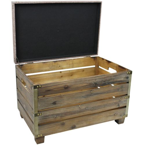 Holzkiste mit Sitzfläche und Tragegriffen 60x43x38cm – Bild 3