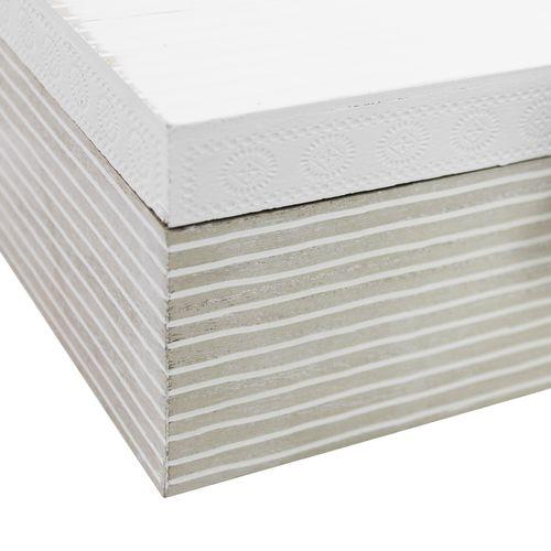 2tlg. Holzkisten-Set mit Klappdeckel - Weiß/Natur/Braun – Bild 6