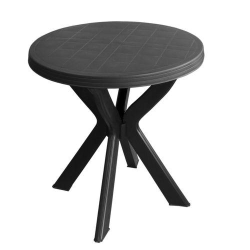 4tlg. Garnitur Kunststoff Tisch Don Ø70cm + Klappsessel Gold 5-fach verstellbar – Bild 2