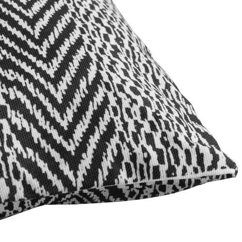 Outdoor Zierkissen 45x45cm - Schwarz/Weiß gemustert – Bild 2