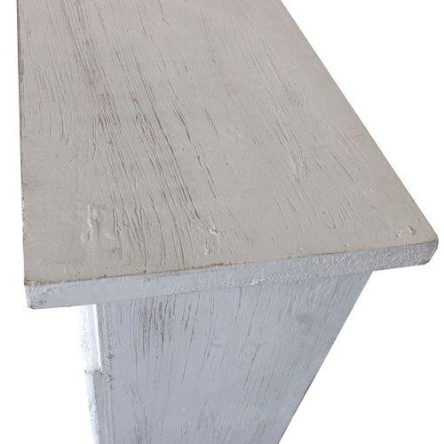 Kaminsims Kaminumrandung 130x23xH100cm - Weiß – Bild 2