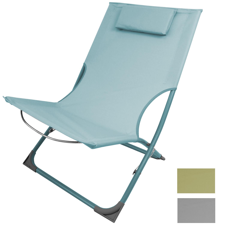 Liegestuhl inkl kissen klappbar in 3 farben garten for Gartenmobel liegestuhl
