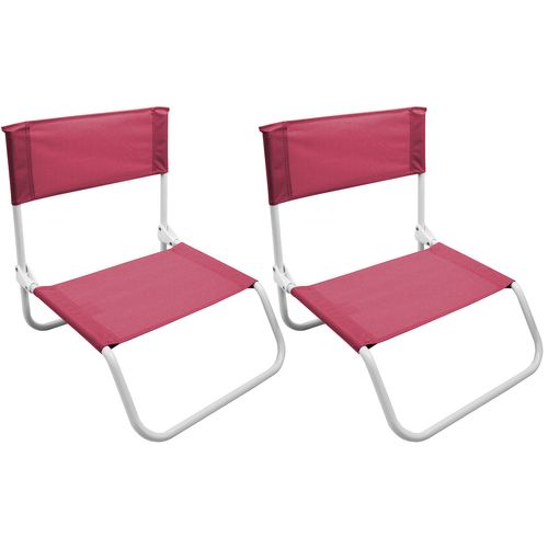 2Stk Strandstuhl klappbar in Pink – Bild 1