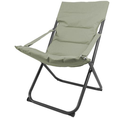 2Stk Liegestuhl klappbar in Dunkelgrün – Bild 3
