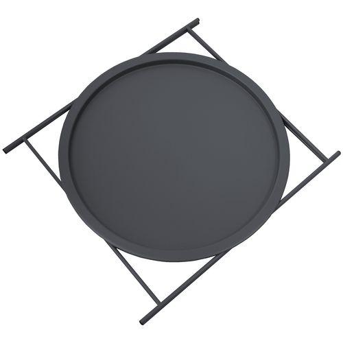 Rundes Serviertablett mit Rand + Gestell / in 6 Farben / in 2 Größen – Bild 11