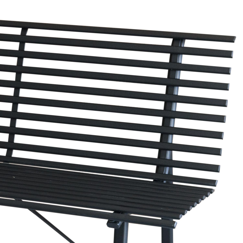 3er gartenbank metall schwarz 150x81x63cm garten gartenm bel gartenb nke. Black Bedroom Furniture Sets. Home Design Ideas
