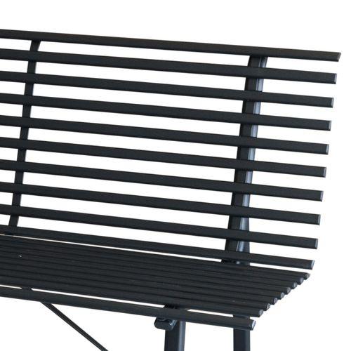 Gartenbank Metall Schwarz 150x81x63cm – Bild 2