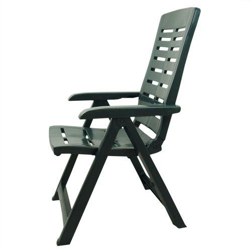 7tlg Gartenmöbel-Set Kunststoff Gartentisch 138x87cm + 4x Klappstuhl Yuma Grün – Bild 8