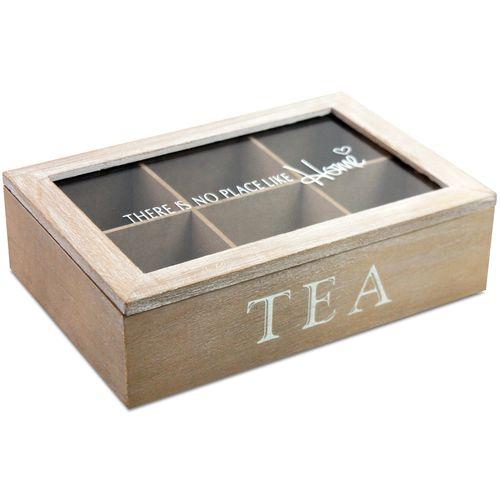 Aufbewahrungsbox Tea mit Sichtfenster 23x15,5x6,5cm – Bild 2