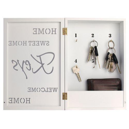 Schlüsselkasten Home Sweet Home für 6 Schlüssel - Weiss – Bild 2