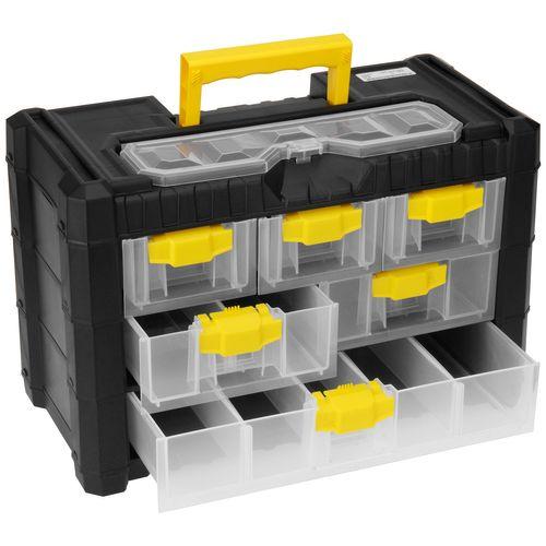 Aufbewahrungsbox mit Tragegriff 40x20xH26cm - Schwarz/Gelb
