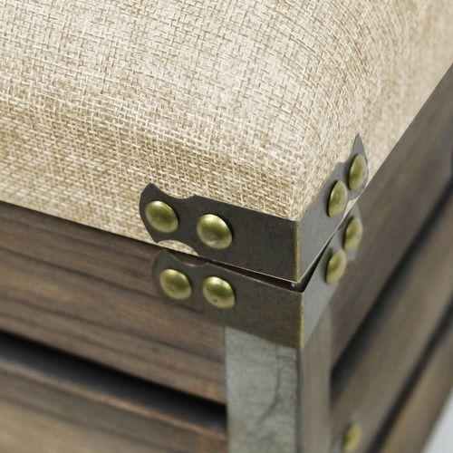 Holzkiste mit Sitzfläche und Tragegriffen 40x42,5x35cm – Bild 2