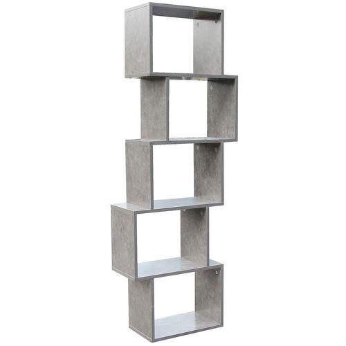 Wohaga Standregal 50x24xH152cm 5 Fächer - Beton-Optik – Bild 3