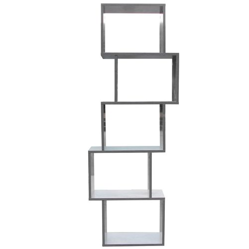 Wohaga Standregal 50x24xH152cm 5 Fächer - Beton-Optik – Bild 5