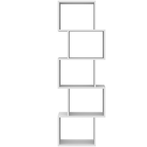 Wohaga Standregal 50x24xH152cm 5 Fächer - Weiss – Bild 5