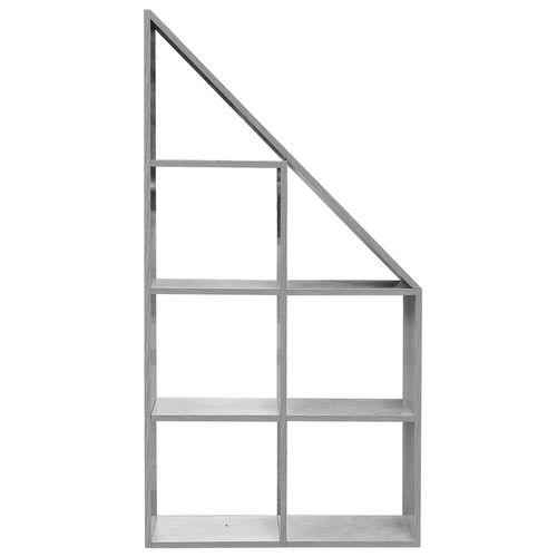 Wohaga Standregal 72x24xH130cm 7 Fächer - Beton-Optik – Bild 5