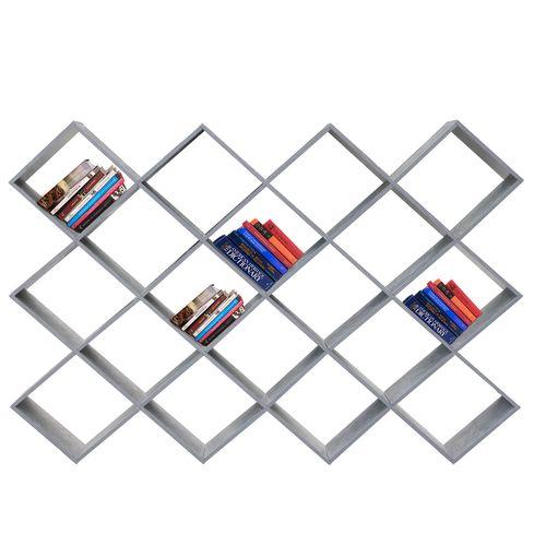 Wohaga Standregal 189x24xH142cm 18 Fächer - Beton-Optik – Bild 4