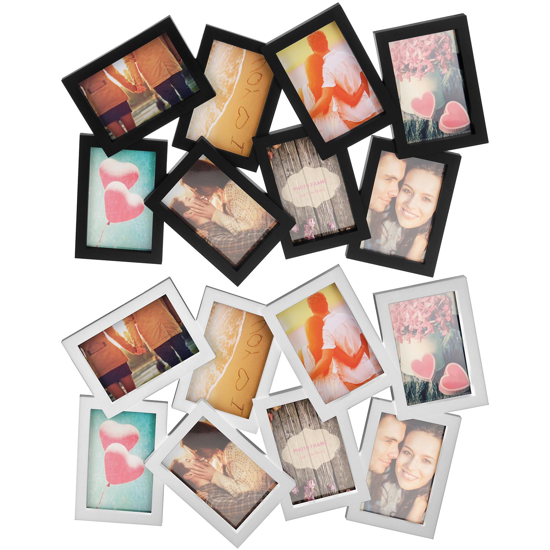 Fotorahmen 56x37x2cm für 8 Fotos in 2 Farben Wohnen Bilderrahmen