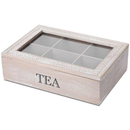 Aufbewahrungsbox Tea mit Sichtfenster 24x17x7cm – Bild 2