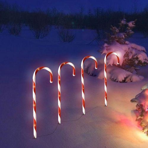 4tlg Leuchtstab-Set Zuckerstange 32 LED Lichter Innen / Außen – Bild 5