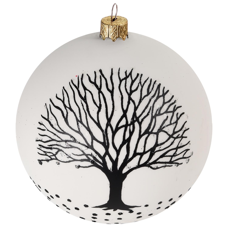 Schwarz Weiße Christbaumkugeln.12 Stück Weihnachtskugeln Baum ø6cm 2 Sorten In Schachtel Schwarz Weiss