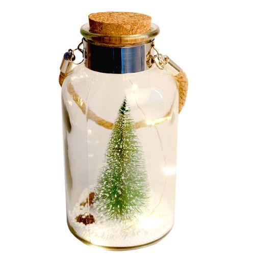 Beleuchtete Flasche mit LED Beleuchtung Tannenbaum