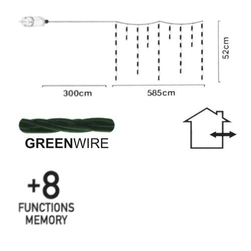 180er LED-Lichtervorhang / 52x585cm / Innen & Außen – Bild 7