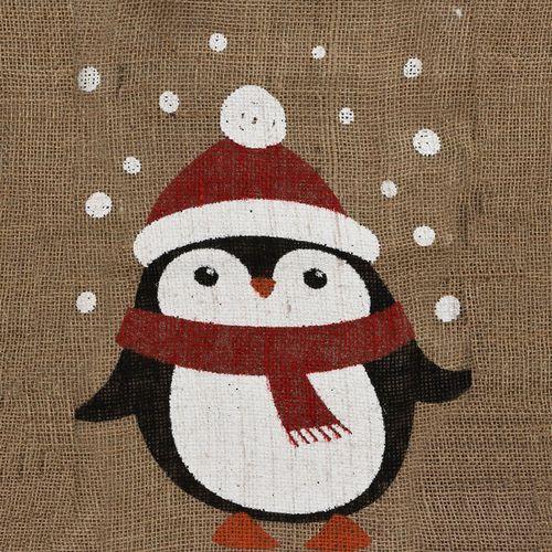 4er Set Weihnachtlicher Jutesack Geschenkbeutel 35x50cm – Bild 3