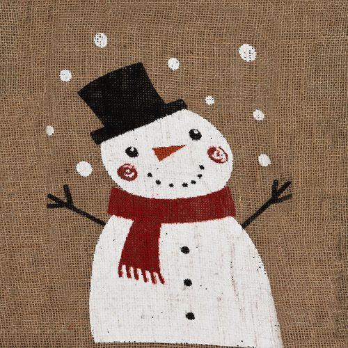 4er Set Weihnachtlicher Jutesack Geschenkbeutel 35x50cm – Bild 4