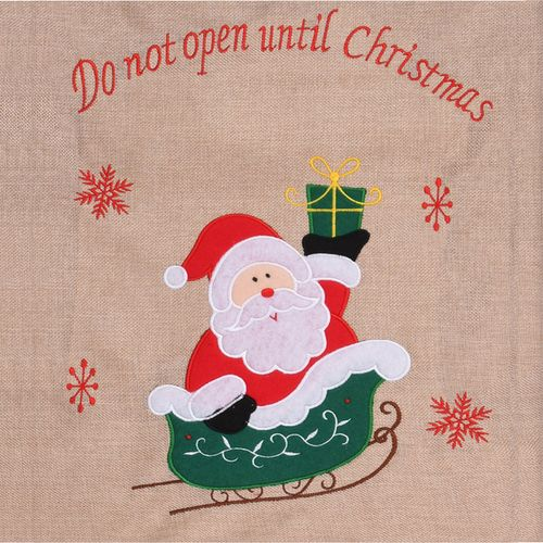 3er Set Geschenkbeutel Christmas-Collection 55x85cm aus Jute