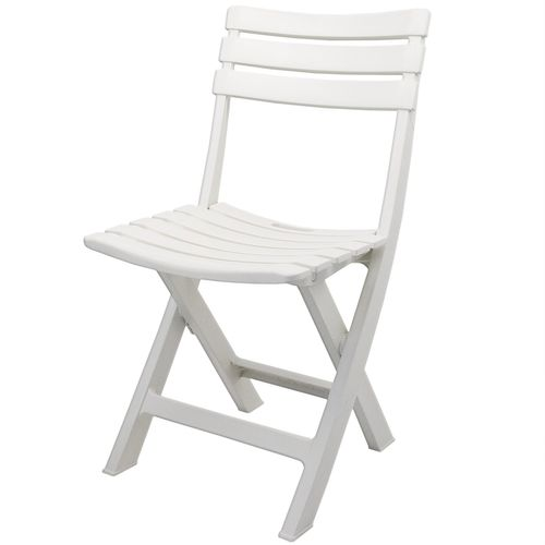 4er Set Klappstuhl Birki Kunststoff - Weiß – Bild 2
