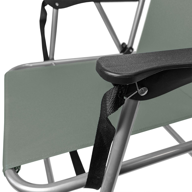 4tlg Campingmöbel-Set Klapptisch 80x60cm Silber//Grau 3 Klappstühle Grau